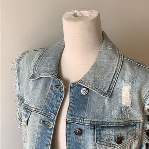 Jean Vest by Just USA - like new